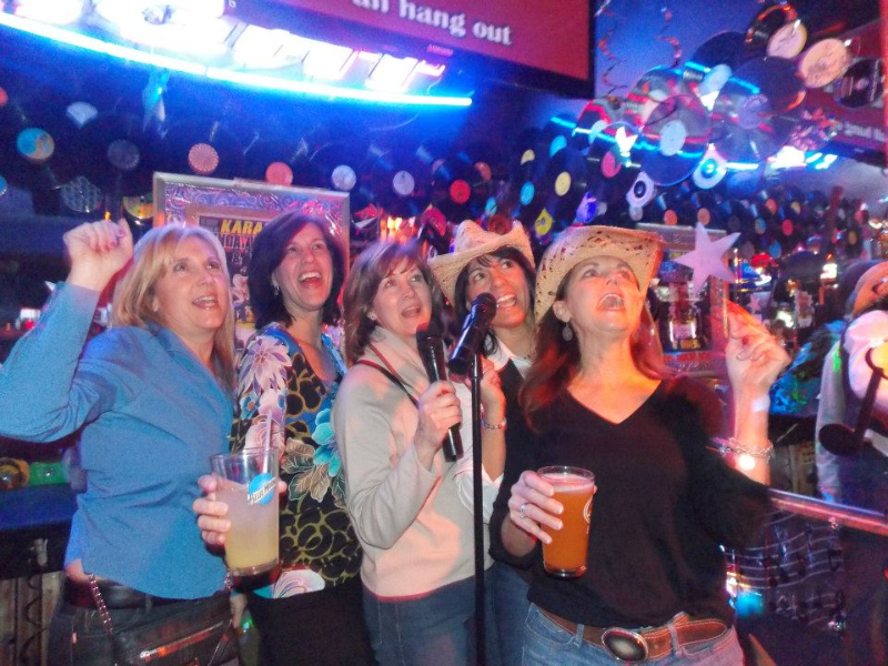 Karaoke at the Cadillac Ranch Restaurant