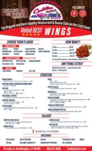 Cadillac Ranch Restaurant - Menu featuring our award winning wings