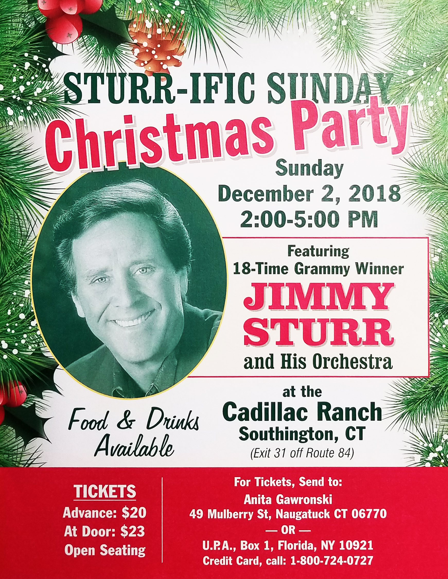 Sturr-Ific Sunday Christmas Party
