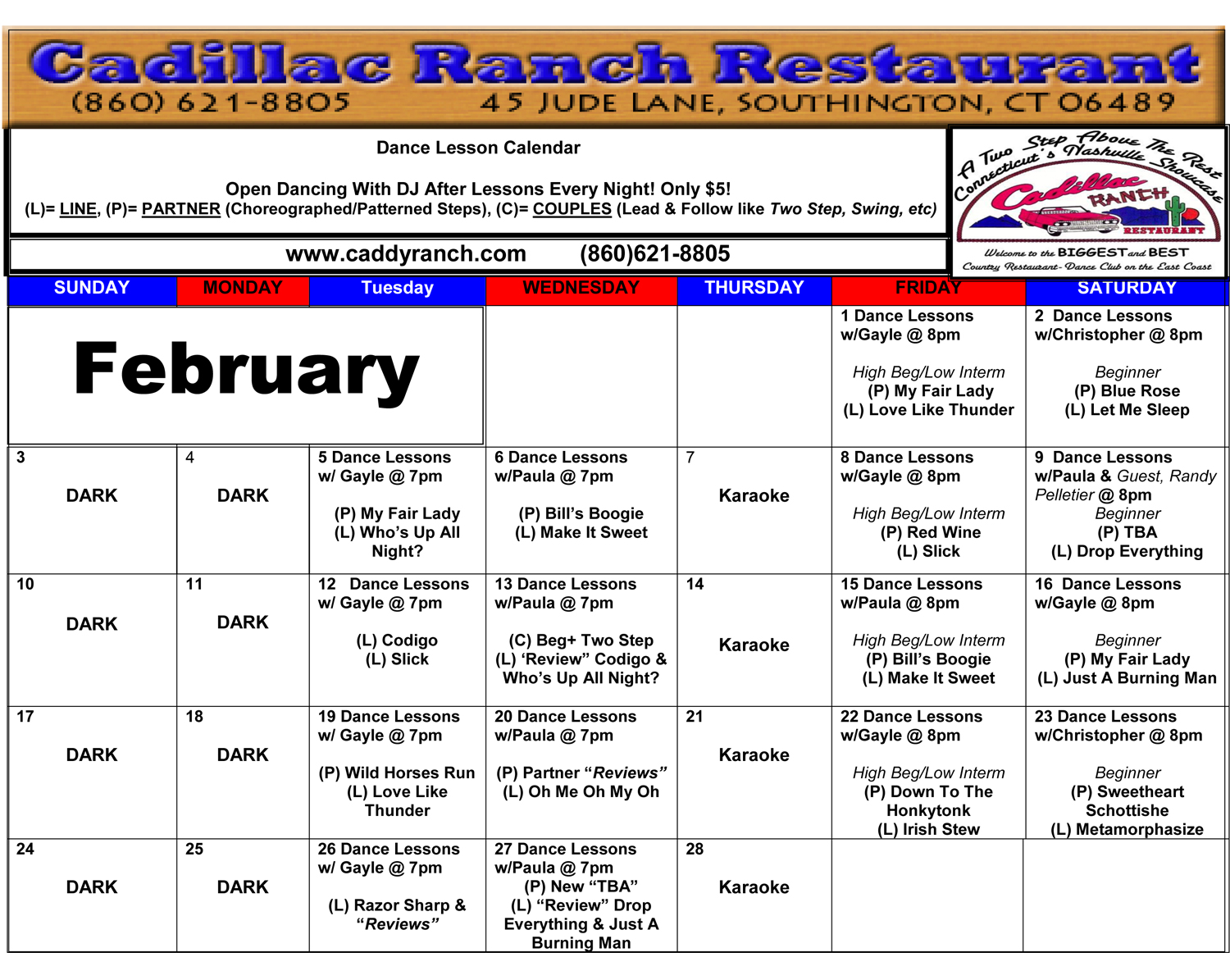 2019-2-Cadillac-Ranch-Schedule